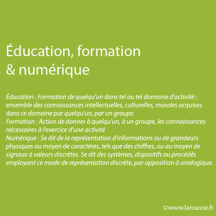 Éducation, formation & numérique