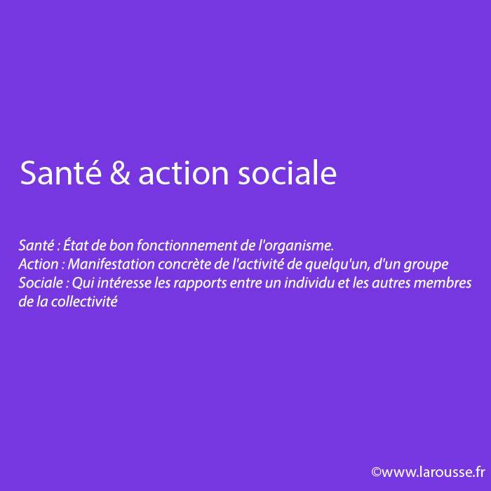 Santé & actions sociales
